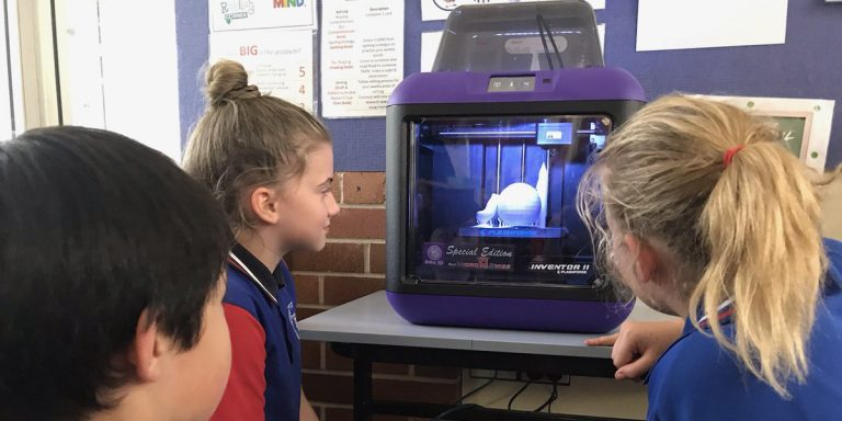 New Farm State School Flashforge 3D Printer in Action