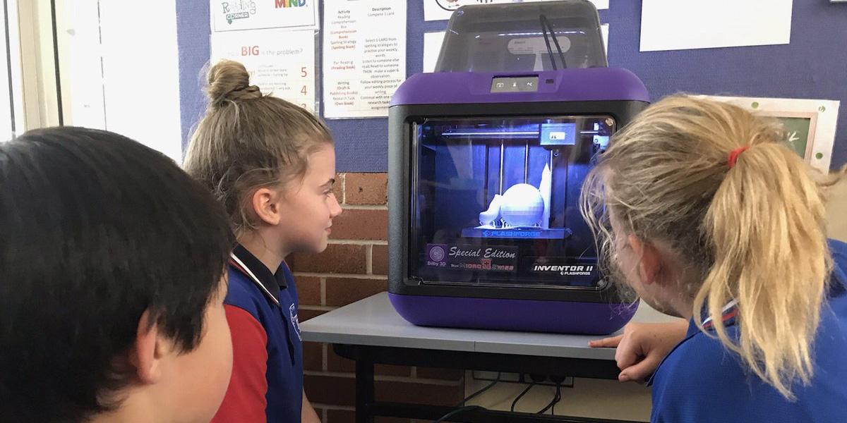 New Farm State School Flashforge 3D Printer in Action